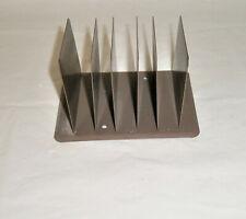Vintage Tan Metal 5 Slot Letter Sorter Desk Organizer Hunt Manufacturing