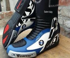 Multicolour BMW Motorbike Shoes Motorcycle Racing Leather Boots CustomMade