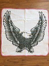 "Harley Davidson Eagle Pink Cotton Baby Receiving Blanket EAGLE Print 24"" x 25"""