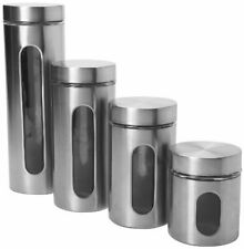 Anchor Hocking 4-Piece Palladian Brushed Stainless Steel Window Cylinder Set