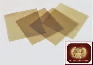 Glimmer Mica Marienglas Kaminscheibe Ofenglas für Antike Öfen 10 x 10 cm