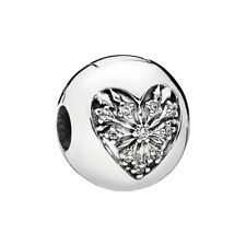 NEW!! Authentic Pandora Silver Heart Of Winter Clear CZ Clip Charm 796388CZ