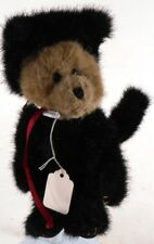 "Boyds Bears MORIARITY Costumed Bear in Black Cat Suit Fully Jointed 9"" tall"