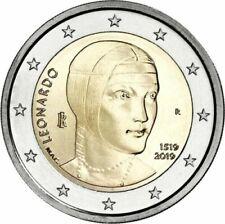 2 EURO COMMEMORATIVA 2019 - ITALIA - LEONARDO - ROTOLINO ROLL - FDC UNC -