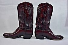 LUCCHESE WESTERN COWBOY CHERRY MENS BOOT 9.5 9 1/2 D