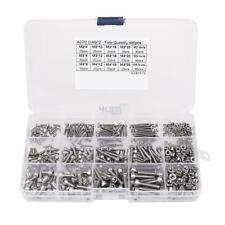 480pcs M2 M3 M4 304 Metric Hex Socket Head Cap Screws Bolt Nut Assortment Set