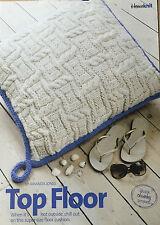 KNITTING PATTERN Textured Supersize Floor Cushion Striped Reverse Cygnet PATTERN