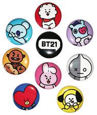BT21 - 9pcs Button Set (1 inch PIN BACK) K-pop BTS - Concert Gear