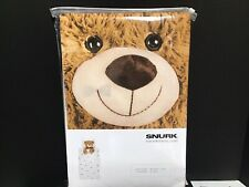 Snurk For Horizontal Living Teddy Bear Twin Duvet Cover & Pillowcase New/Sealed!