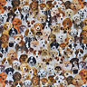 Lifelike Dogs & Puppies Fabric - Digital Print, Upholstery, Curtain, 100% Cotton