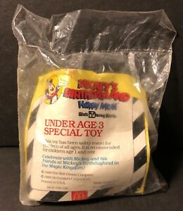1988 McDonalds Under 3 Happy Meal Toy Mickey's Birthday Land Mickey Mouse NIP