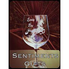 Personalised Engraved Horse Wine Glass - New - Handmade