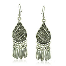 Bohemian Ethnic Silver Jewelry Chandelier Drop Dangles Earrings for Women Gifts
