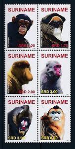 [SU1481] Suriname Surinam 2007 Primates Monkeys  MNH