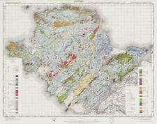 Anglesey geological survey sheet Wales Bangor Holyhead Caernarfon 1974 old map