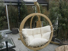 Wooden swing pod with frame Swinging Chair Garden