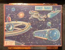 Vintage SPACE TRAVEL Tray Puzzle by Milton Bradley, 1959