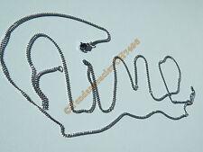 Chaine Collier Giga Longue Argenté 96 cm Pur Acier Inoxydable Maille 1,8 mm