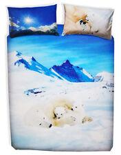 Completo copripiumino copripiumone Bassetti Imagine BEARS IN THE SNOW orso