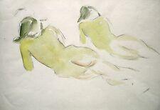 Manfred Steinhardt 1893-1952 Berlin (zugeschr.) / Aquarell / zwei weibliche Akte