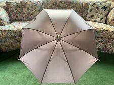 Vintage Gloria Vanderbilt Lavender Large Umbrella Parasol W/ Swan Handle & Cover