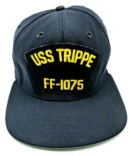 USS TRIPPE / FF-1075 vintage blue adjustable cap / hat - Made in USA!