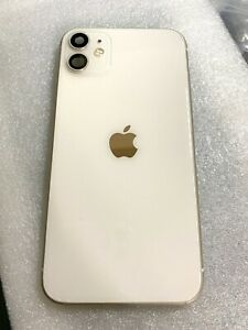 Apple iPhone 11 OEM White Back Glass Housing Frame Replacement+Parts & Battery