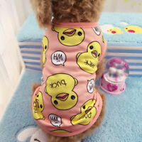Duck Puppy Clothing Dog Cotton Clothes Chihuahua Yorkie for Dog Jumpsuit