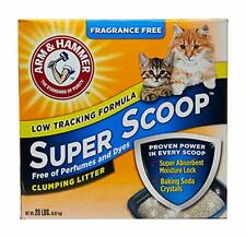 Arm & Hammer Super Scoop Clumping Litter, Fragrance Free 20lb
