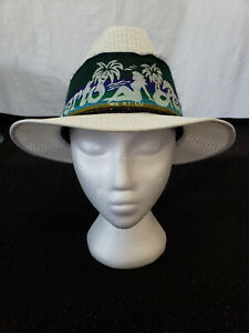 Straw Hat White Size 7 1/4 Mexico Puerto Penasco Souvenir
