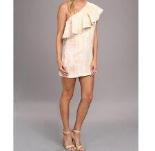 BCBG Generation One Shoulder Coctail Dress Cognac Brown dress NWT Womens 10 nwt
