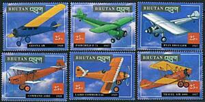 Bhutan 2000 HISTORIC AIRPLANES of the 20's MNH AVIATION