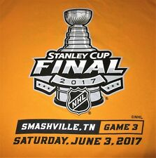 2017 Nashville Predators XL gold SHIRT Stanley Cup Final Game 3 Smashville promo