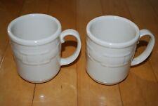 Longaberger Mug Pottery Woven Traditions Ivory Mugs Set of 2 Two