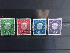 1959, 31. Jan./ 22. Mai. 1. Bundespräsident Heuss. Michel:183,184,185,186 W:21€