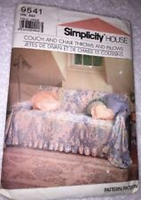 Simplicity 9541 Sewing Pattern -  Couch & Chair Throws & Pillows
