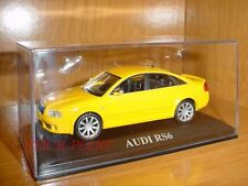 AUDI RS6 RS-6 YELLOW-SILVER CHROMED REARVIEWS 1:43 MINT