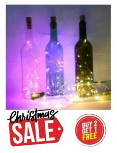 Wine Bottle Fairy String Lights 20 LED 2M Battery Cork For Party Xmas Wedding