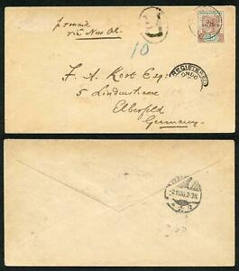 British Honduras SG68 25c opt Revenue (12 mm) on Registered COVER Cat 675 pounds