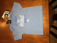 """Chicago Cubs MLB shirt  """"My First"""" Tee - Baby Adidas Blue NWT Close Out"""
