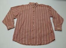 GAP Mens Size XL Faded Red Striped Button Front Shirt Great Condition