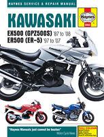 Kawasaki EX500 GPZ500 & ER500 ER-5 ER5 1987 - 2008 Haynes Manual 2052 NEW
