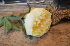 Realistic Individual Antique Yellow Peony, Artificial Luxury Faux Silk Flower