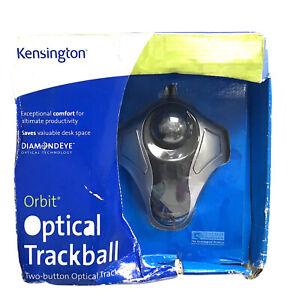 new KENSINGTON ORBIT Optical Trackball Wired Mouse USB Marble K64327F 64327