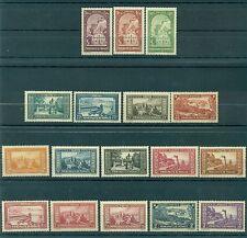 Monaco 1933/37 - Y & T  n. 119/34 - Paysages de la Principauté