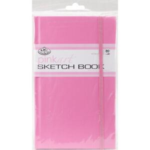 """Pink Art Artist Sketch Book 5""""X8.25""""-80 Sheets"""