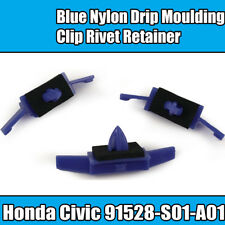 10x Clips For Honda Civic Accord Drip Moulding Trim Fastener Blue Plastic
