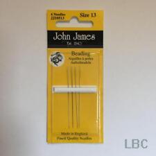 Pack of Beading Needles Size 13 John James