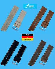 Allstar Velour Correa Reloj 22 24mm Negro Braun Beige Made in Germany