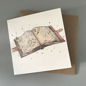 Harry Potter Spell Book Illustrated Wizarding Greetings/ Birthday Card
